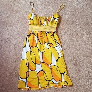 City Studio retro print dress size large